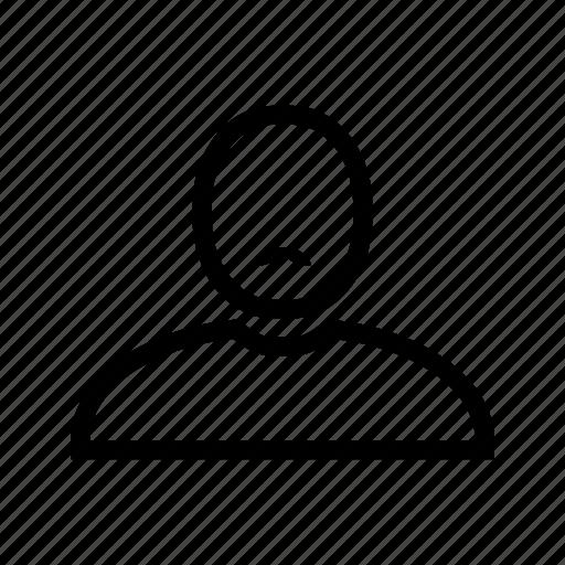 account, line, man, moustache, profile, user icon