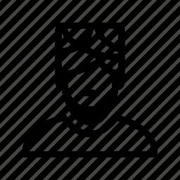 beard, man, moustache, muslim, profile, turban, user icon