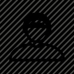 account, hair, headband, profile, user, woman icon