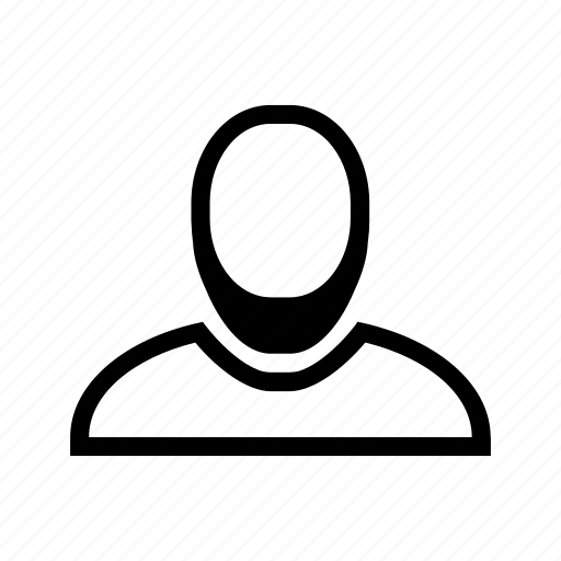 account, beard, line, man, profile, user icon