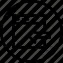 arrow, export, in, left, window