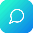 bubble, chat, message, notification, talk