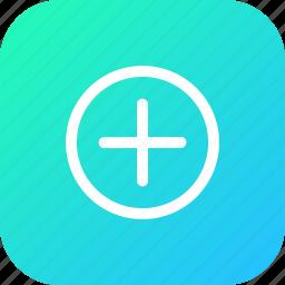 add, append, attach, circle, inset, plus icon