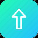 arrow, direction, up, upload, way