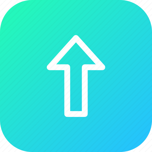 arrow, direction, up, upload, way icon