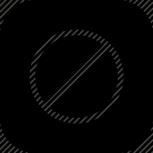 circle, denied, notice, remove, round icon