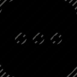 circle, grid, menu, option, round icon