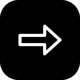 arrow, direction, forward, next, right, way icon