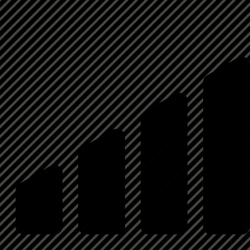 analysis, chart, column, graph, network, signal, statics icon