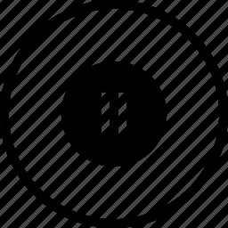 music, pause, play, round, stop, tool icon