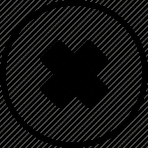 cross, delete, false, remove, wrong icon