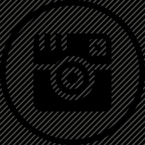 camera, capture, image, instagram, logo, sign icon