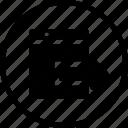 arrow, document, export, file, import, right, window
