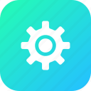 gear, interface, preferences, setting, ui, user icon