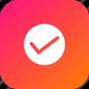 right, tick, true, trust, verify, wright icon