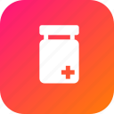 bottle, hospital, medical, medicine, plus, tfreatment icon