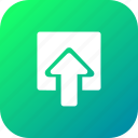 arrow, box, document, download, file, import, share icon