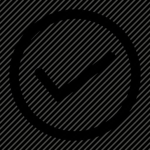protect, right, round, true, trust, verify icon