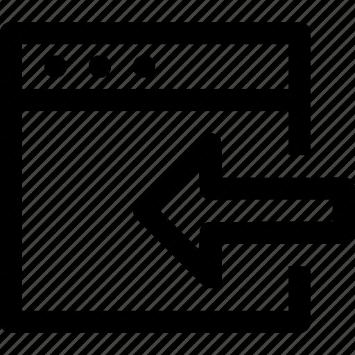 Arrow, export, in, left, window icon - Download on Iconfinder