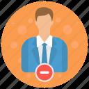 account, admin, administrator, profile, remove, role, user icon