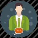 account, admin, administrator, conversation, profile, role, user, users icon
