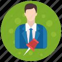 account, admin, administrator, pin, profile, role, user, users icon