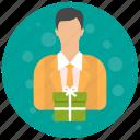 account, admin, administrator, gift, profile, role, user, users icon