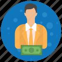 account, admin, administrator, cash, profile, role, user, users icon