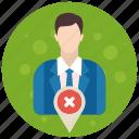 account, admin, administrator, location, profile, role, user, users icon