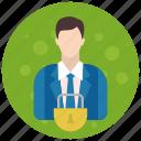 account, admin, administrator, lock, profile, role, user icon