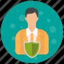 account, admin, administrator, profile, role, sheild, user, users icon