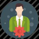 account, admin, administrator, profile, role, setting, user, users icon