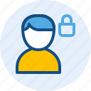 man, persona, private, user icon