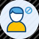 block, man, persona, user icon