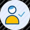 accept, account, persona, user icon