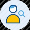 account, persona, search, user icon