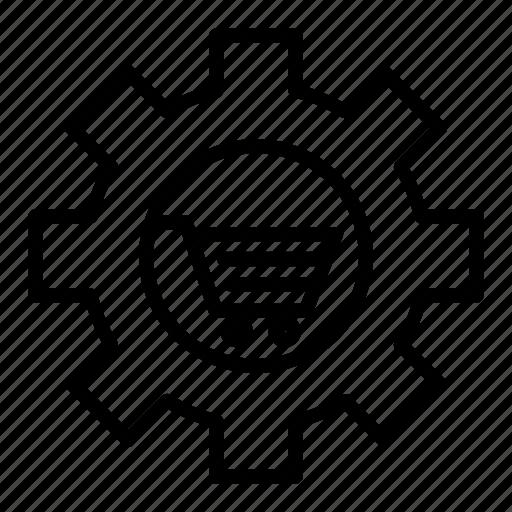 cart, configuration, e-commerce, gear, setting icon