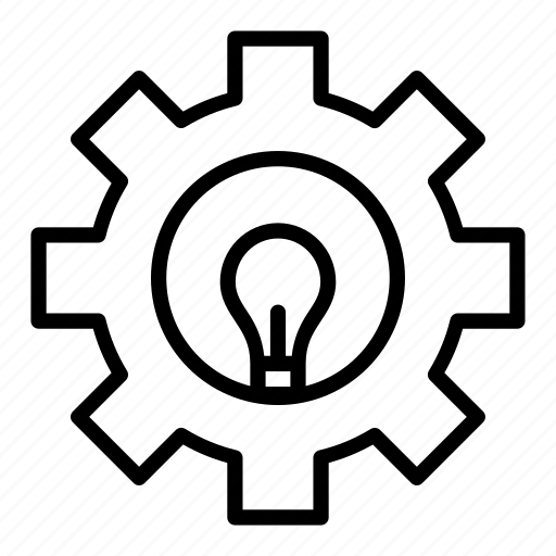 bulb, configuration, gear, idea, lamp, setting icon