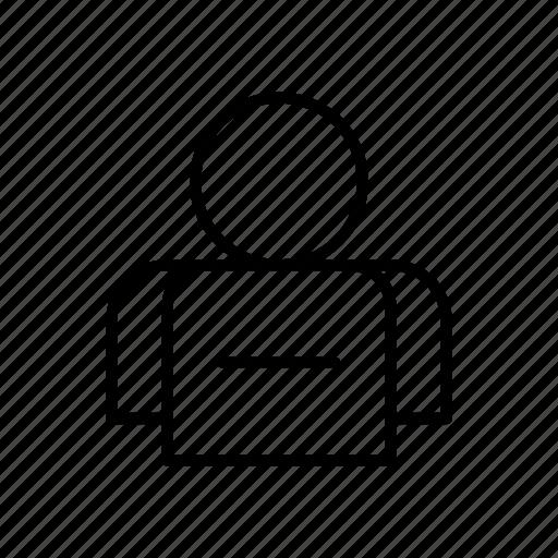 account, avatar, contact, person, profile, remove, user icon