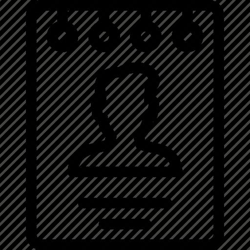 booklet, male, man, profile, user icon