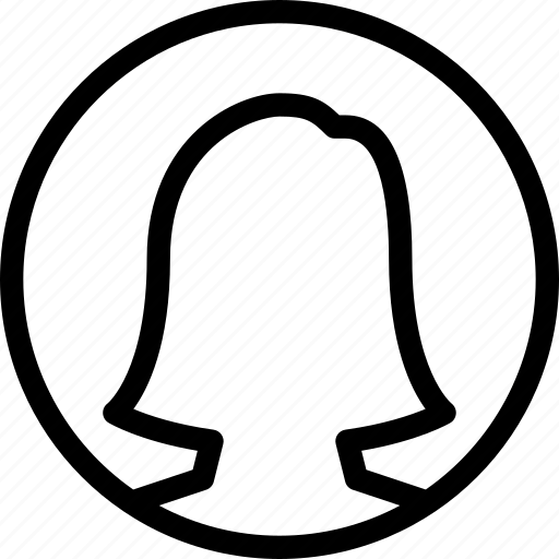 circle, female, people, user, woman icon