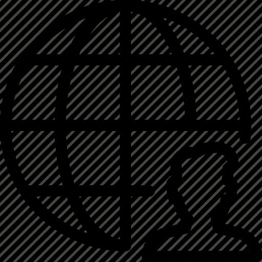 earth, global, people, user, world icon