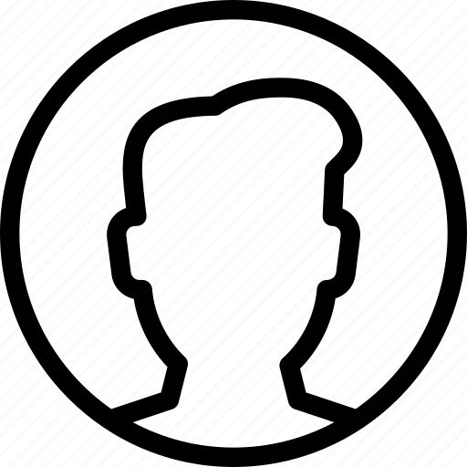 circle, male, people, profile, user icon