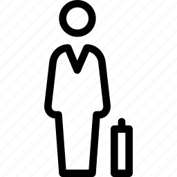 briefcase, man, person, user, with icon