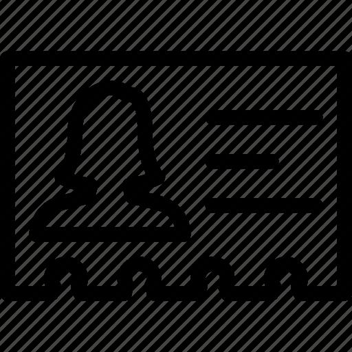 female, name, plate, profile, user icon