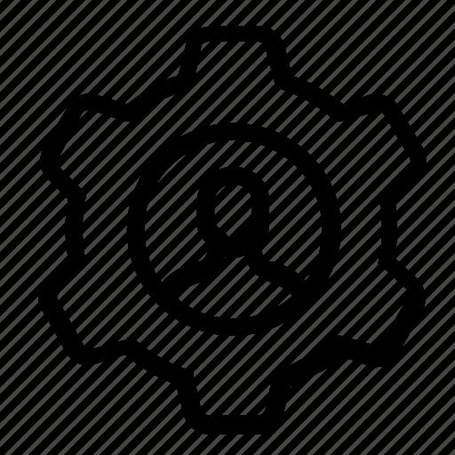 account, settings, user icon