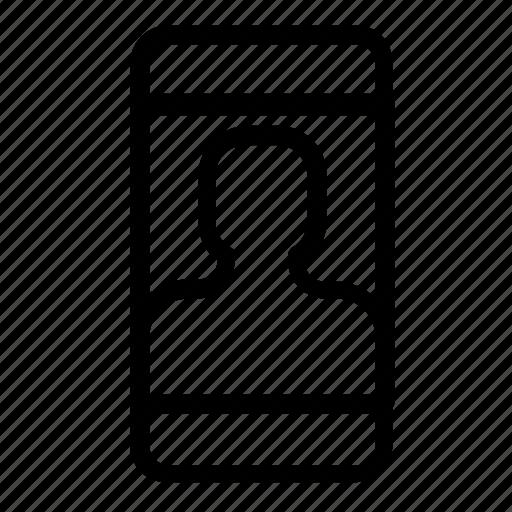 account, smartphone, user icon