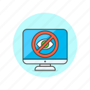 access, denied, monitor, users icon