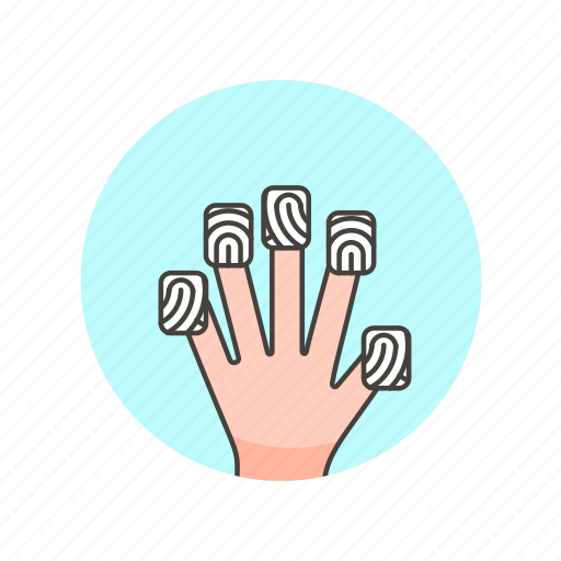 fingerprint, five, gesture, scan, touch, user icon