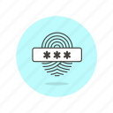 biometric, fingerprint, passcode, password, scan, touch, user icon